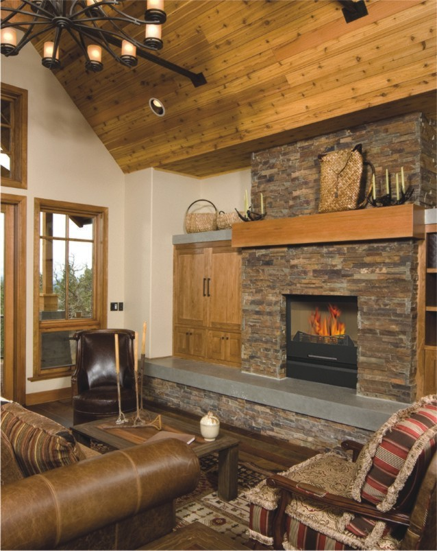 FLEXIFUEL - The pellet/wood burning hydronic heating fireplace - Setting #2