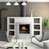AXTRO - The wood-burning hydronic heating fireplace - Setting #1