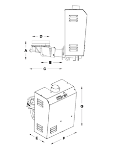 PELLETS BURNER Modello PX 801 L