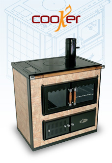 COOKER - The wood-burning hydronic heating cooker