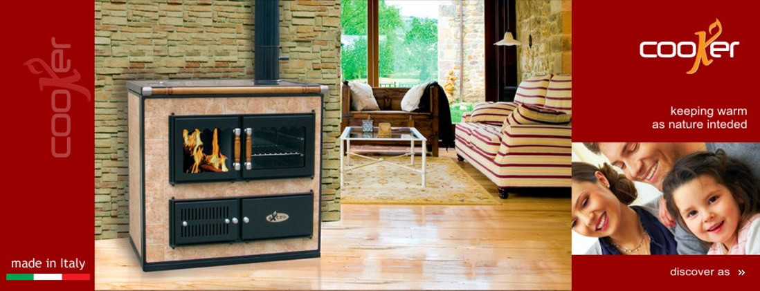 The wood-burning hydronic heating cooker
