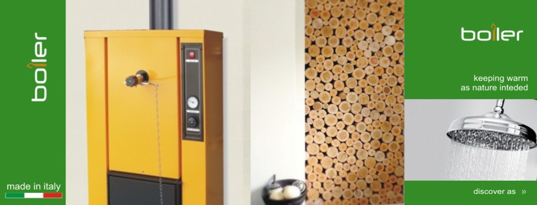 The wood-burnig hydronic heating boiler
