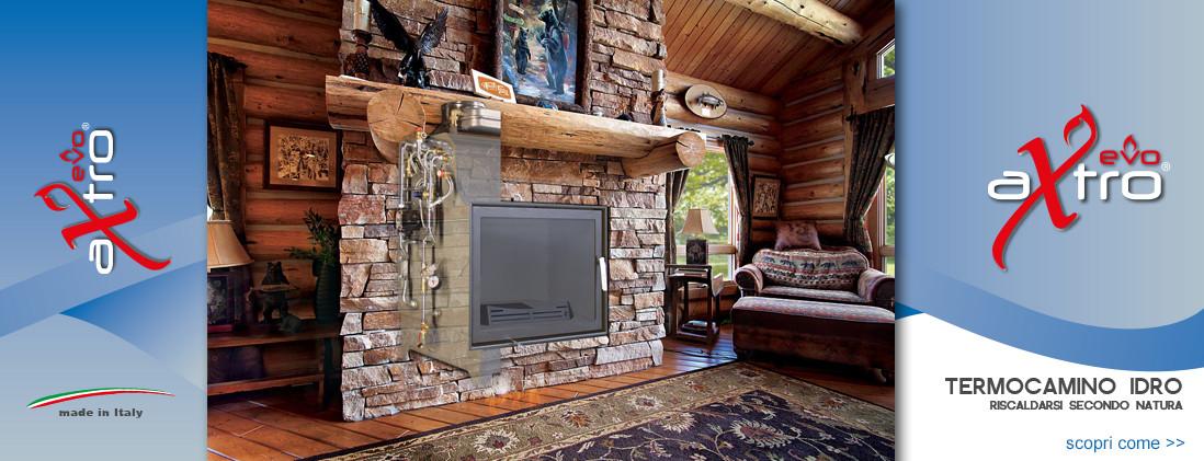 Il nuovo termocamino idro a legna